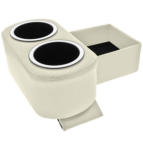 White Hot Rod Shorty Floor Console & Cup Holders