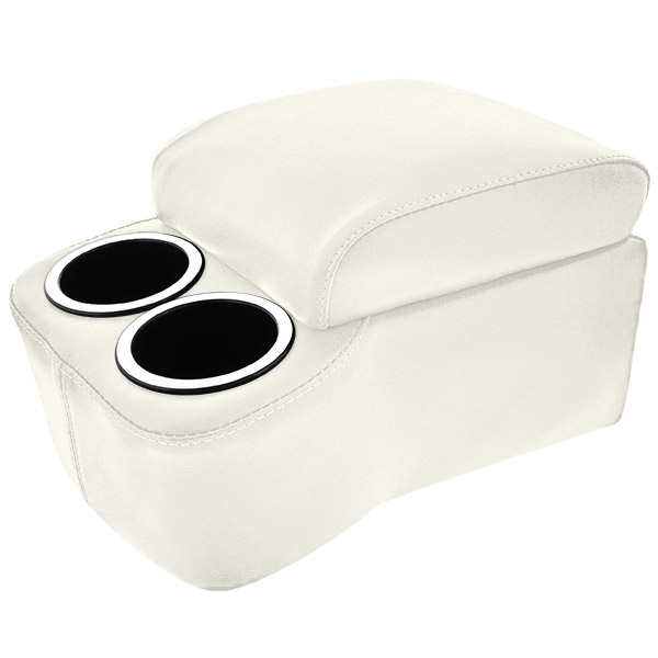 White Short And Narrow Bench Seat Cruiser Console