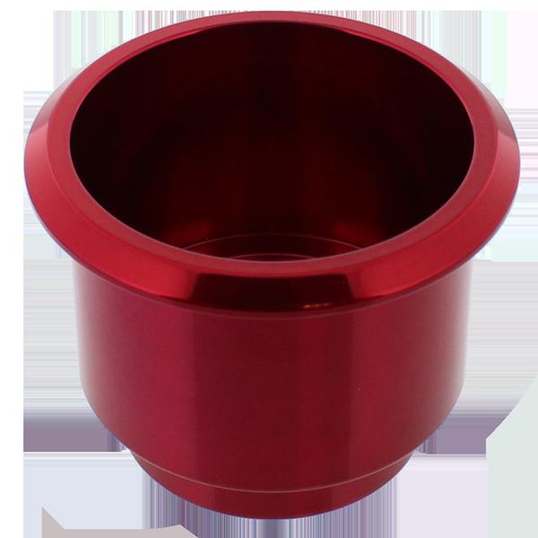 Billet Aluminum Large Cup Holder Insert Red