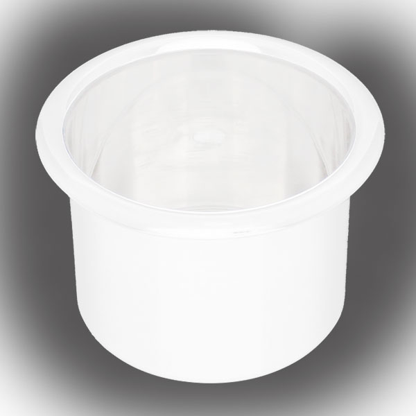 Spun Aluminum Large Cup Holder Insert White