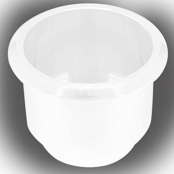 Billet Aluminum Large Cup Holder Insert White