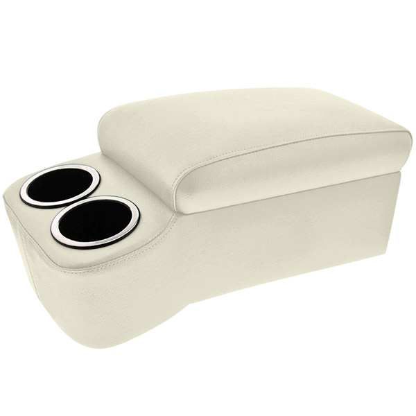 White Narrow Bench Seat Cruiser Console