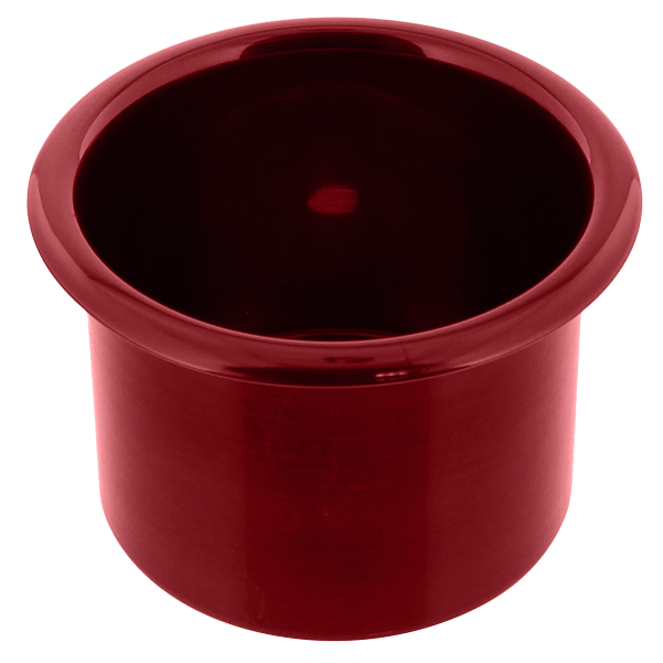 Spun Aluminum Large Cup Holder Insert Red | CupHoldersPlus